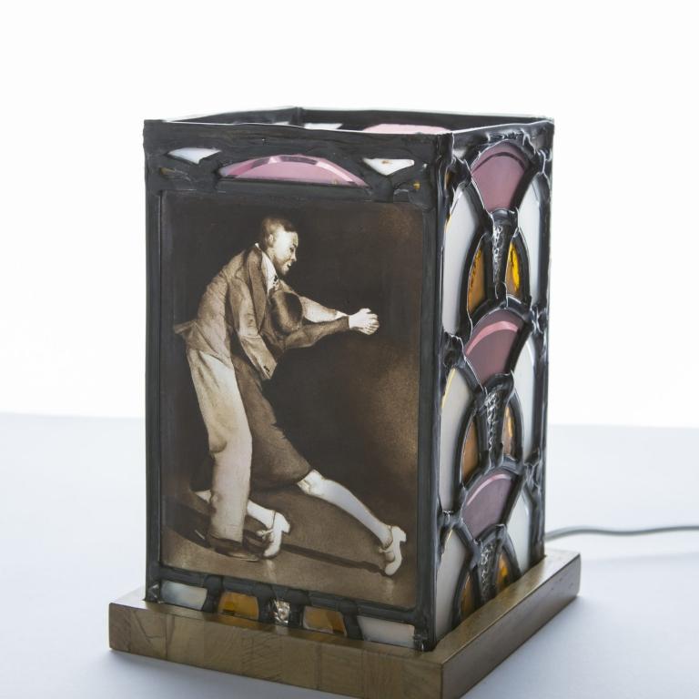 Création lampe vitrail