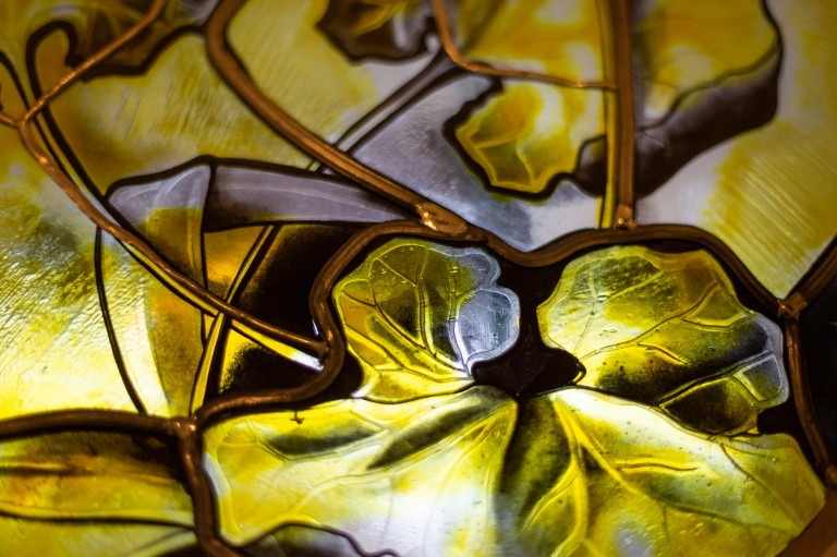 Textures vitrail fenêtre ronde