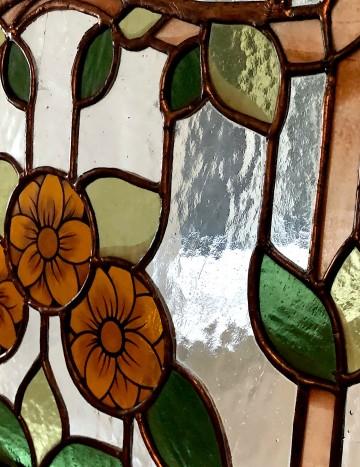 Détail vitrail art nouveau