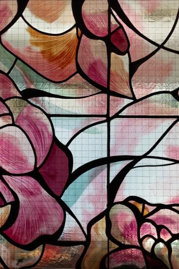 Vitrail floral détail